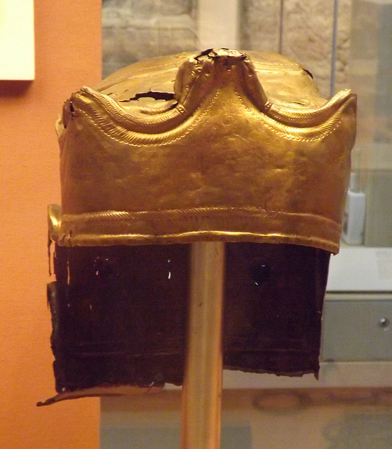 Cavalry Sports Helmet in the British Museum, May 2014