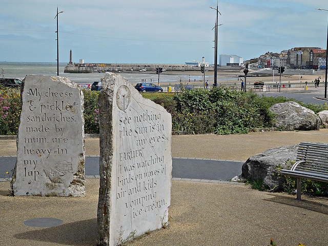 Standing stones with Margate behind