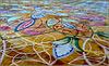 AbuDhabi : meraviglioso tappeto in una grande sala della  supermoskea della capitale