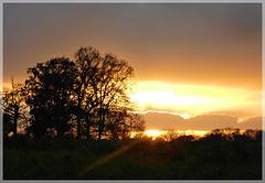 Coucher de soleil  vers 17h20mn