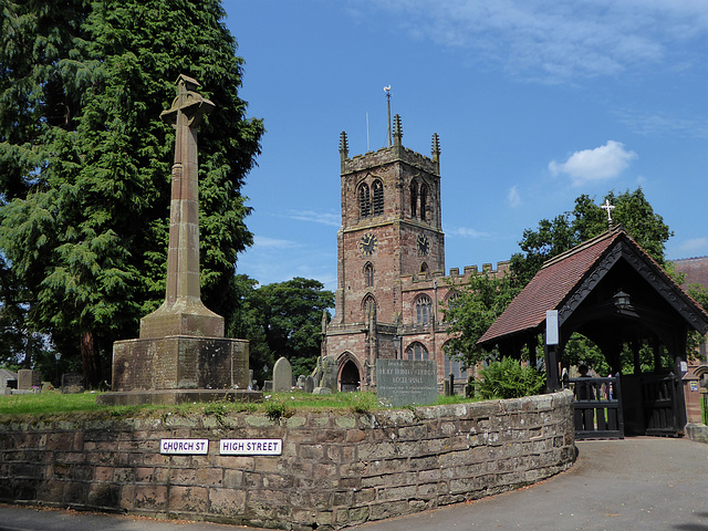 The Holy Trinity Church, Eccleshall, Staffordshire.