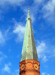 Turmspitze der Friedenskirche Hamburg Altona (*1893 - 1895 / 1943-55)