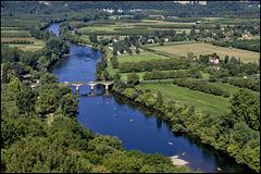 La rivière Dordogne vue de Domme