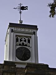 Wind vane and clock Farnham Castle Gatehouse