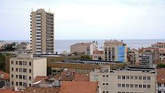SAINT-RAPHAEL: Le musée archéologique, vue depuis le haut de la tour du musée 26