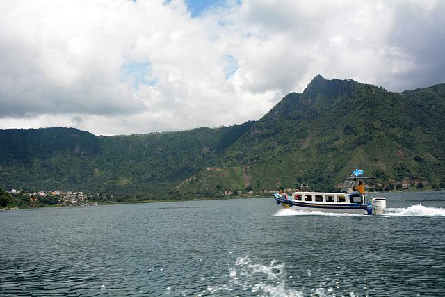 Guatemala, The Lake of Atitlan, Approaching to the Small Town of San Pedro La Laguna