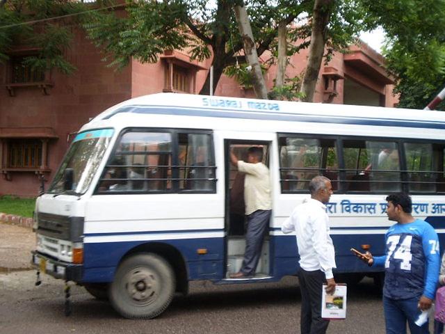 Old mini-bus Mazda.