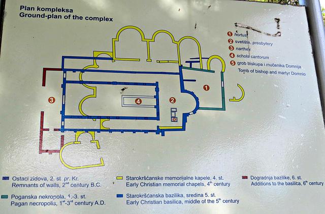 Manastirine : plan du complexe.