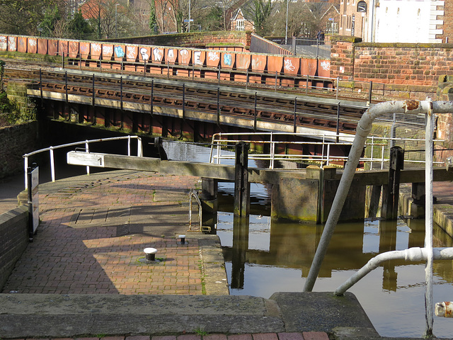 northgate locks, canal, chester