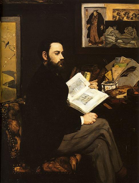 Manet, Edouard - Portreto de Emile Zola