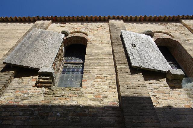 Stone shutters!
