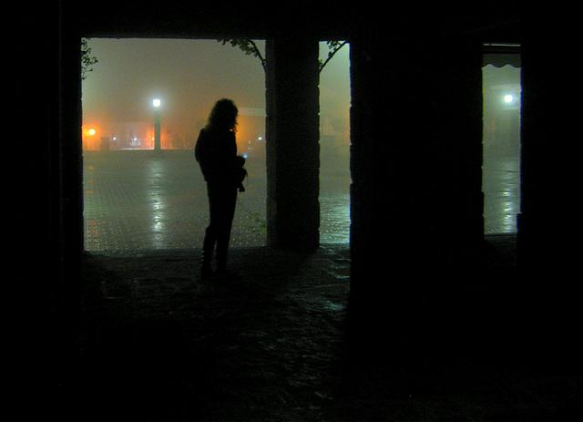 Hoyo de Manzanares. A rainy night.