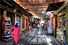 In the Souks of Marrakesh.