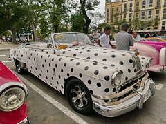 Cuba - Autista e auto a pois