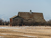 An old barn in winter