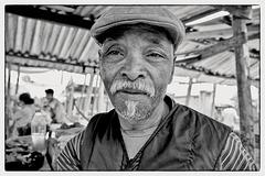 Portrait sur un marché de Tananarive