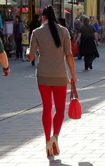 leggings & stiletto heels