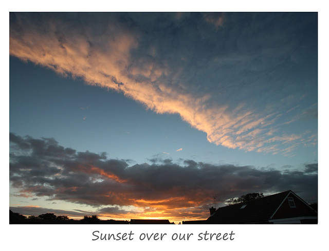 Sunset over our street - 14.10.2015
