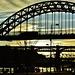 Bridges over the Tyne. Late light