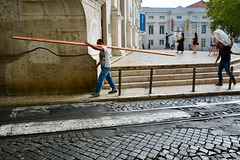 Lisbon 2018 – Carrying a pipe