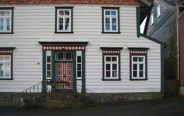 Das Gesicht eines Hauses