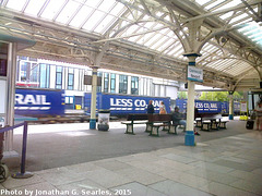 "Tesco ""Less CO2"" Container Train in Newport Station, Edited Version, Newport, Wales(UK), 2015"