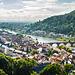 Blick von der Scheffelterrasse auf die Heidelberger Altstadt (mit PIP)