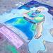 Chalk art at MCHS