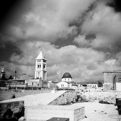 Jerusalem, Church of the Holy Sepulchre, view from the rooftops