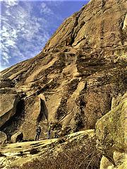 Climbers on Pico de La Miel