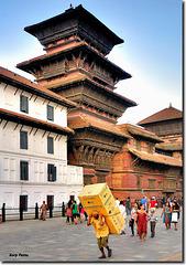 """With the fridge in tow"" - Kathmandu - NEPAL"