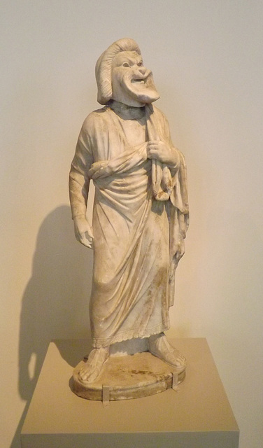 Marble Statue of an Actor in the Metropolitan Museum of Art, September 2014