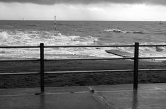 Turbulent sea at Ramsgate