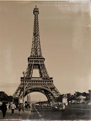 Eiffelturm - Postkarte