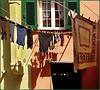 Boccadasse : Panni stesi nel borgo marinaro - (898)