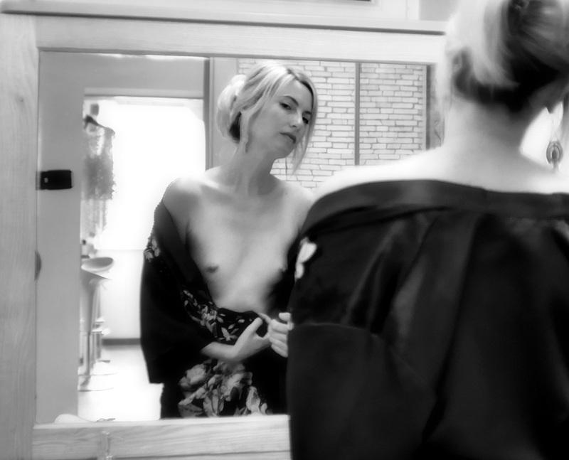 the mirror...