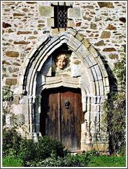 Porte du vieux manoir primitif de la Crochais XV ième à Beaussais sur Mer (22)