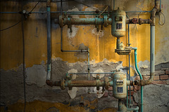 Abandoned Trieste - valves and pipes