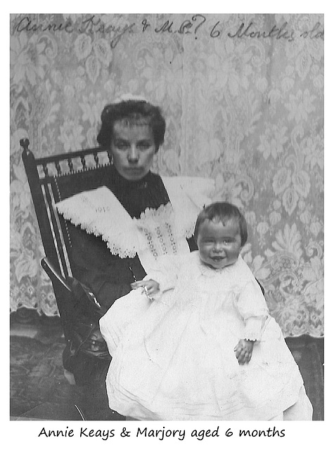 Annie Keays & Marjory aged 6 months - c1904