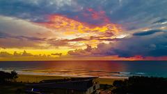 Sunrise at the Gold Coast Queensland.
