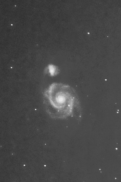 The galaxy M51 in the constellation Ursa Major