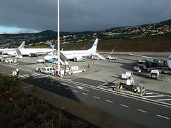 Licht und Schatten am Flughafen inFunchal auf Madeira