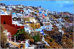 Santorini : panoramica di Oia verso Sud - (996)