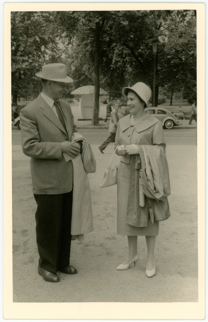 Street Scene with Man and Woman