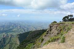 Ethiopian Highlands Viewed from Simien Mountains