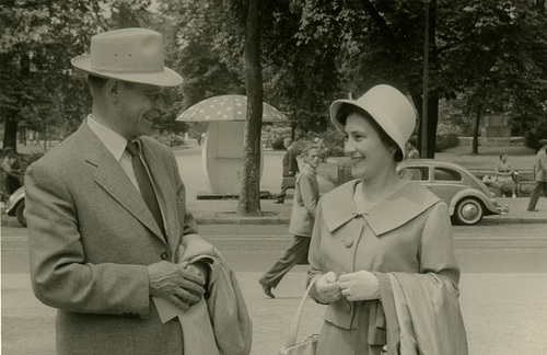 Street Scene with Man and Woman (Cropped)
