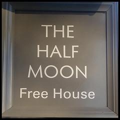 boring Half Moon pub sign