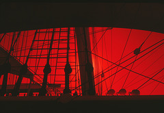 Sunset, Star of India Rigging