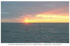 Fishing boats at sunset - Seaford Bay - 30.12.2014