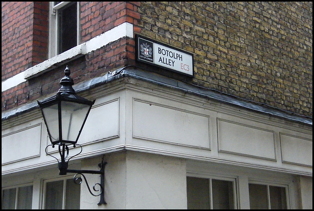 Botolph Alley street sign